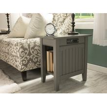 See Details - Nantucket Chair Side Table with Charger Atlantic Grey