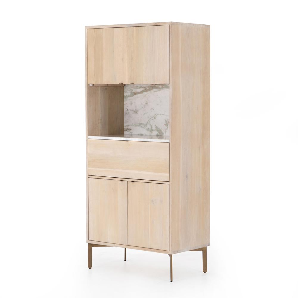 Bianca Bar Cabinet-pale Washed Oak