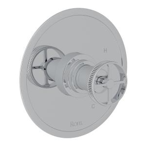Polished Chrome Campo Pressure Balance Trim Without Diverter with Industrial Metal Wheel Product Image