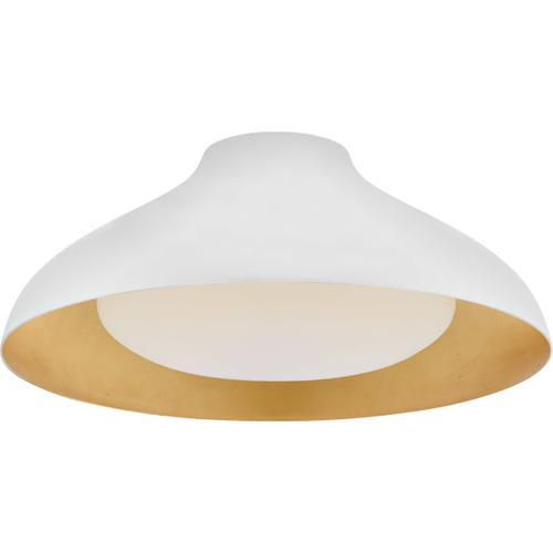 AERIN Agnes LED 18 inch Plaster White Flush Mount Ceiling Light