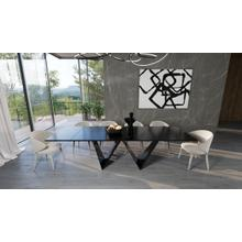 View Product - Modrest Fritz - Modern Black Ceramic Dining Table