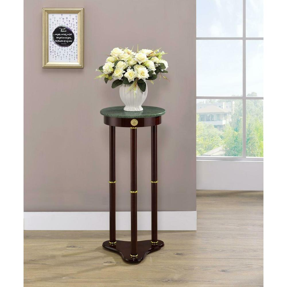 See Details - Traditional Merlot Round Plant Stand