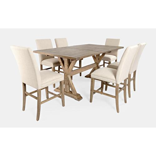 Jofran - Carlyle Crossing Ext Table W/(6) Uph Stools