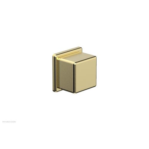 MIX Volume Control/Diverter Trim - Cube Handle 290-38 - Polished Brass Uncoated