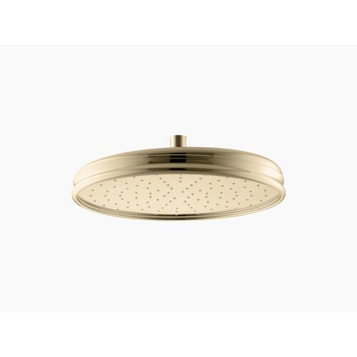 "Vibrant French Gold 12"" Rainhead With Katalyst Air-induction Technology, 2.5 Gpm"