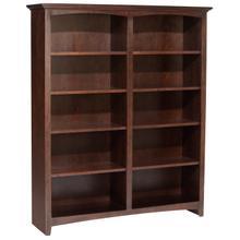 """CAF 60""""H x 48""""W McKenzie Alder Bookcase"""