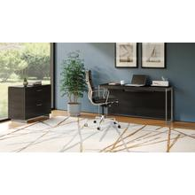 View Product - Sequel 20 6102 Console/Laptop Desk in Charcoal Satin Nickel