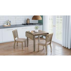 Prescott Park Dropleaf Table W/(2) Slatback Chairs