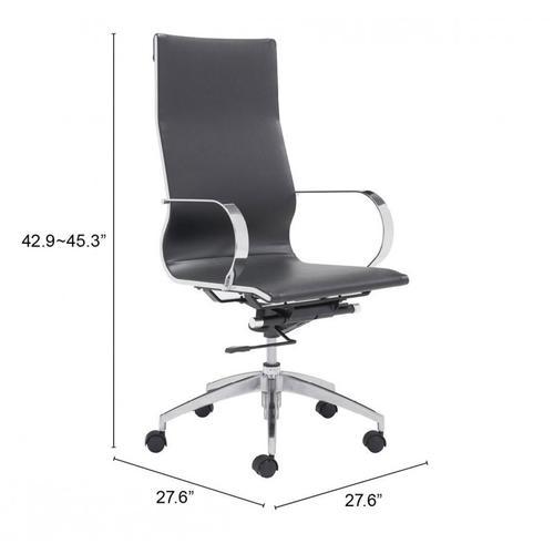 Zuo Modern - Glider High Back Office Chair Black