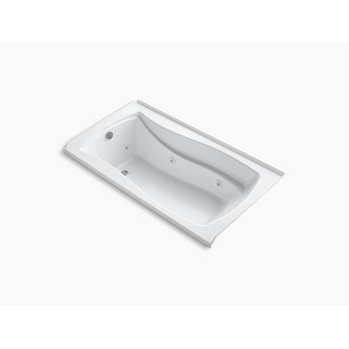 "Dune 66"" X 36"" Alcove Whirlpool Bath With Bask Heated Surface, Integral Flange, and Left-hand Drain"