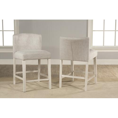 Gallery - Clarion 3-piece Counter Height Side Dining Set With Wing Arm Stools - Distressed Gray Top With Sea W