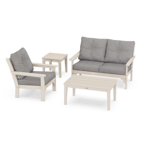 Vineyard 4-Piece Deep Seating Set in Sand / Grey Mist