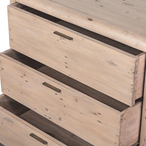 Gyro 3 Drawer Dresser-scrubbed Teak