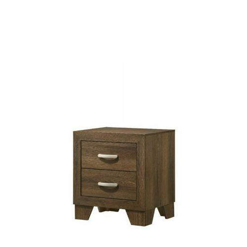 ACME Miquell Nightstand - 28053 - Transitional - Veneer (Paper, LVB), PB, MDF, Chipboard - Oak