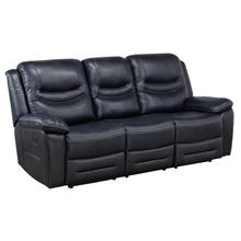 See Details - Power Recliner Sofa - Blue
