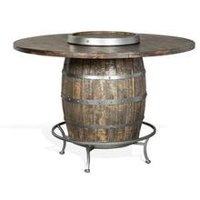 Round Pub Table with Barrel Base