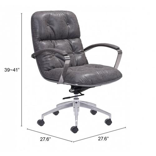 Zuo Modern - Avenue Office Chair Vintage Gray