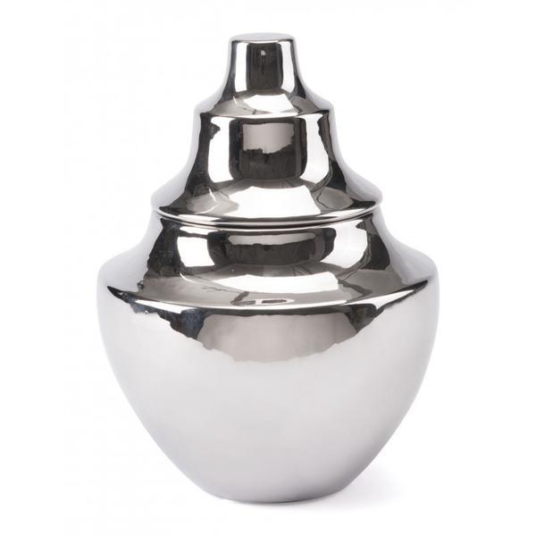 Small Pyramid Vase Silver