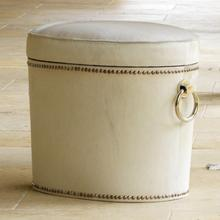 See Details - Chalis Cowhide Ring Bench
