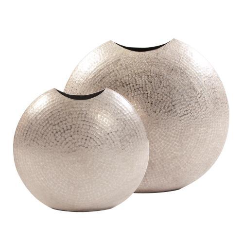 Howard Elliott - Frosted Silver Metal Vase - Large