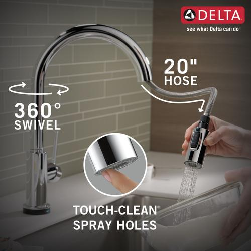 Delta Faucet Company 9159tdst Studio41 Chrome Single Handle Pull Down Kitchen Faucet With Touch 2 O Technology