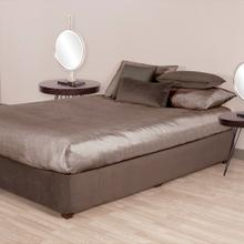 See Details - Twin Boxspring Cover Bella Pewter (Cover Only)