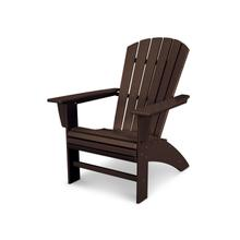 Mahogany Nautical Curveback Adirondack Chair