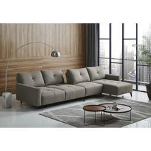 View Product - Divani Casa Kenton - Modern Grey Fabric Right Facing Sectional Sofa