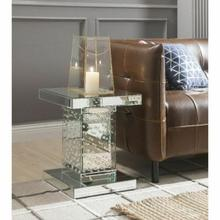 ACME Nysa End Table - 80284 - Mirrored & Faux Crystals