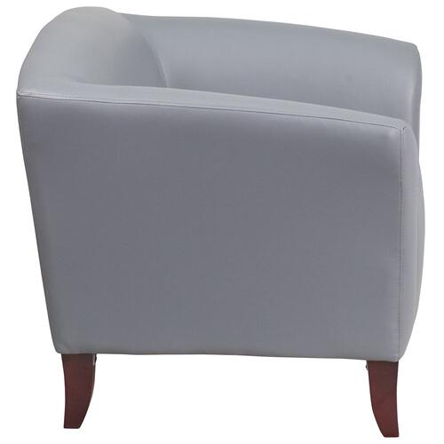 Alamont Furniture - Gray Leather Chair
