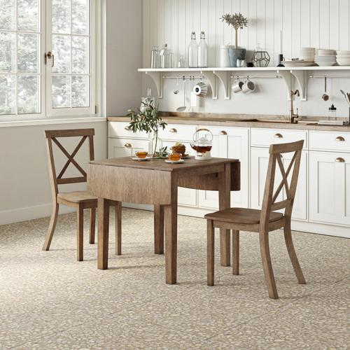 Jofran - Eastern Tides Dropleaf Dining Table W/(4) Uph Chairs