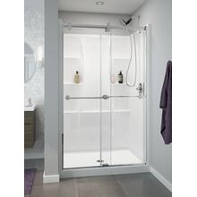 "High Gloss White 48"" X 34"" Shower Wall Set"