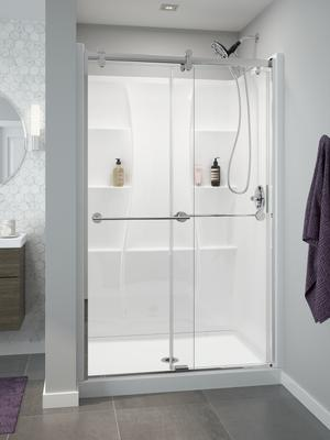 "High Gloss White 48"" X 34"" Shower Wall Set Product Image"