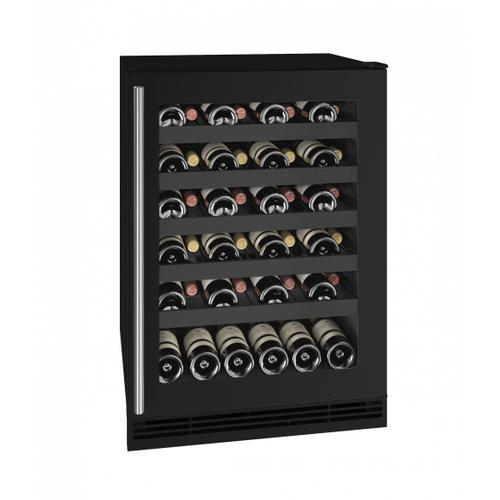 "Hwc124 24"" Wine Refrigerator With Black Frame Finish (115v/60 Hz Volts /60 Hz Hz)"