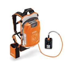 A high-capacity backpack battery delivering gasoline-powered performance to the STIHL Battery-Powered Equipment line. One battery powers multiple tools!