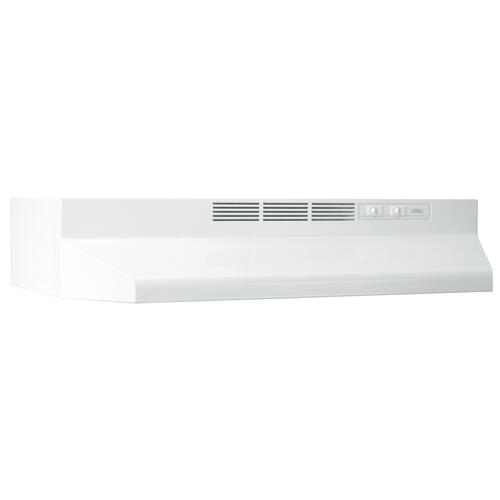 Broan® 30-Inch Ductless Under-Cabinet Range Hood, White