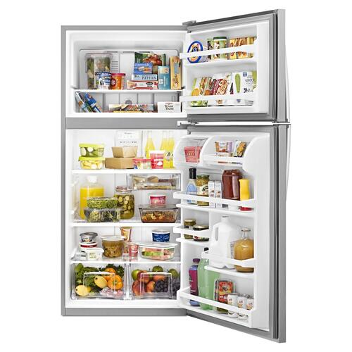 Whirlpool - 30-inch Wide Top Freezer Refrigerator - 18 cu. ft. Monochromatic Stainless Steel