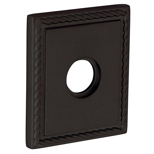 Baldwin - Distressed Oil-Rubbed Bronze R036 Square Rope Rose