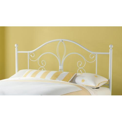 Ruby King Metal Headboard With Frame, Textured White