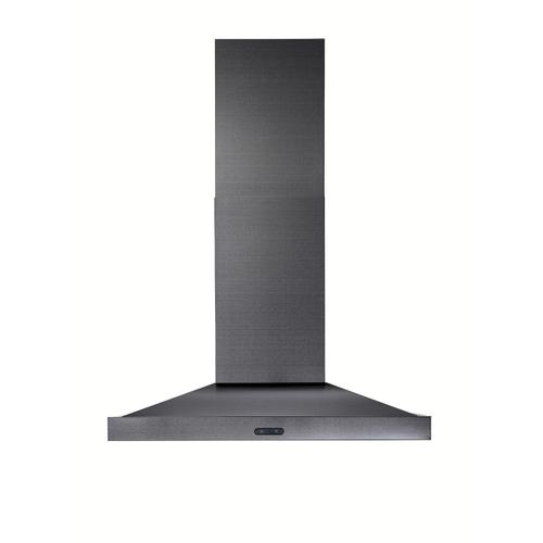 Broan® 30-Inch Convertible Wall-Mount Chimney Range Hood, 500 CFM, Black Stainless Steel