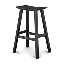 "Black Traditional 30"" Saddle Bar Stool"