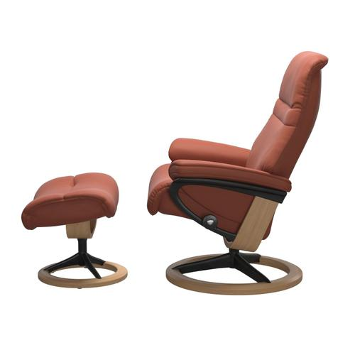 Stressless By Ekornes - Stressless® Sunrise (M) Signature chair with footstool