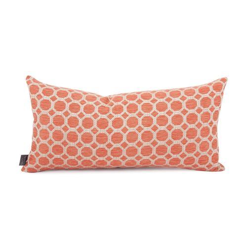 Howard Elliott - Kidney Pillow Pyth Coral - Down Insert