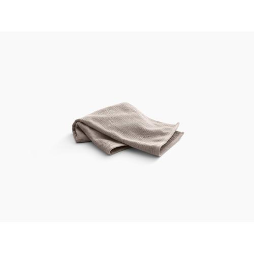"Truffle Hand Towel With Textured Weave, 18"" X 30"""