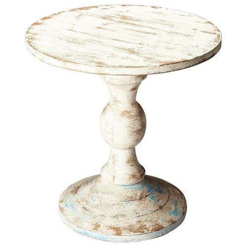 Butler Specialty Company - This solid wood pedestal table looks like it came right from your Grandma's Attic. The distressed Artifacts finish gives this table a homey, welcoming feel. Placed in any shabby chic home, this table will add functionality and style.