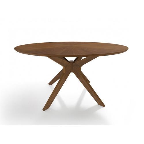 VIG Furniture - Modrest Prospect - Modern Round Walnut Dining Table