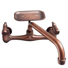 Dollie Wall Mount Kitchen Faucet - Oil Rubbed Bronze / With Soap Dish