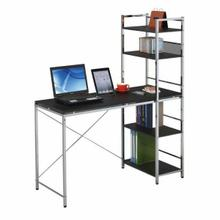 ACME Elvis Computer Desk w/Shelves - 92074 - Black & Chrome