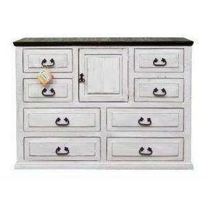 Million Dollar Rustic - Wihte/coffee Econo Dresser