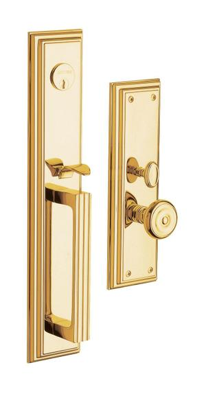 Lifetime Polished Brass Tremont Entrance Trim Product Image